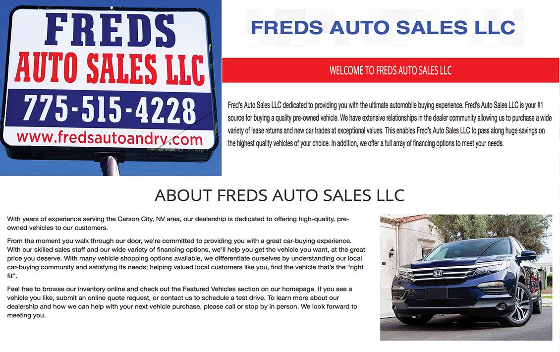 Freds Auto Sales